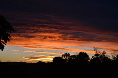 sunrise from our deck, Prince Albert, Karoo