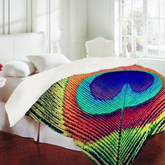 Aimee St Hill Bright Tribal Duvet Cover from Deny Designs. Shop more products from Deny Designs on Wanelo. Peacock Bedding, Peacock Room, Peacock Decor, Peacock Print, Welcome To My House, Pink Opal, Dream Bedroom, Dream Rooms, Home Decor Furniture