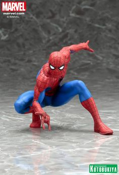 Kotobukiya Marvel Spider-Man ARTFX Statue, Marvel Comics Collectibles, by Kotobukiya, Kotobukiya Marvel Spider-Man ARTFX Statue A Kotobukiya Japanese Import. Kotobukiya's Marvel Comics ARTFX Statues have brought you Earth's Mightiest Heroes. Marvel News, Marvel Dc, Batgirl, Famous Superheroes, Marvel Statues, Mode Shop, Amazing Spiderman, Spiderman Man, Action Poses