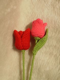 A quick & easy tulip pattern, written in US crochet terms.