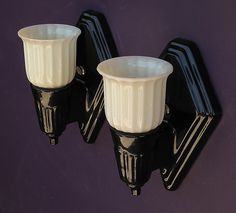 Black Porcelain Sconces Vintagelights Com Bathroom Sconcesbathroom Light Fixturesbathroom Lightingwall Ideasvintage