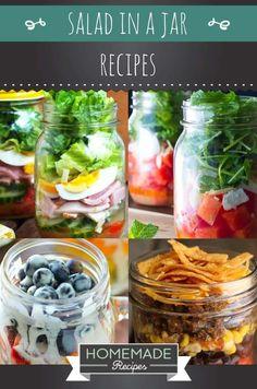 Healthy Salad In A Jar Recipes   https://homemaderecipes.com/salad-jar-recipes-healthy/