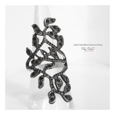 Hey, I found this really awesome Etsy listing at https://www.etsy.com/listing/186746828/black-forest-lace-diamond-ring-black