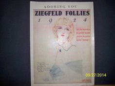 MUSIC - ZIEGFELD FOLLIES - 1924