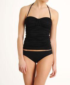 La Blanca 'Samba' Solid Bandeau Tankini Swimsuit