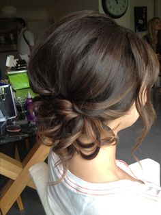I want this because I want my hair down and curly and I love how this is a bit curly not too much though. And it's an up-do because if I have my hair down I would like the bridesmaids hair up