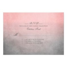 Rustic Pink and Grey Bohemian Wedding RSVP Personalized Invitations This site is will advise you where to buyShopping          Rustic Pink and Grey Bohemian Wedding RSVP Personalized Invitations Here a great deal...