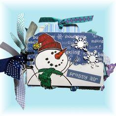 Snowman-Holiday Mini Scrapbook | heirloomsbylorraine - Paper/Books on ArtFire