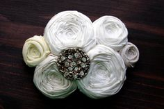 on sale Wedding Rosettes Couture Bridal Hair Piece by Brydferth, $60.00