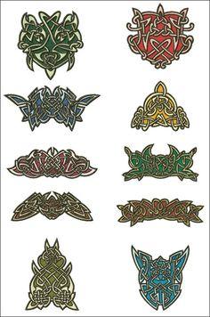Celtic Lace Ornaments - standalone lace machine embroidery designs