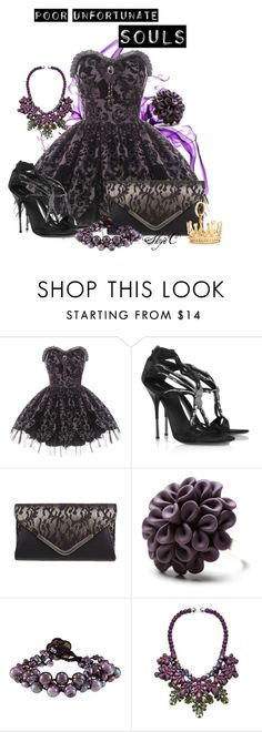 """Poor Unfortunate Souls - Disney's The Little Mermaid"" by rubytyra ❤ liked on Polyvore featuring Hell Bunny, Giuseppe Zanotti, Hring eftir hring, Ek Thongprasert, Tiffany & Co., disney, disneybound and littlemermaid"