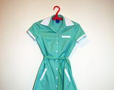 Twin peaks, diner dress, retro dress, green dress, mint green ,uniform dress, waitress dress