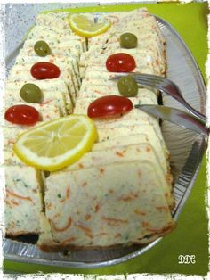Surimi terrine - DDcuisine - Another recipe from my mom& birthday buffet … Before testing the tuna terrine and this suri - Quick Dessert Recipes, Egg Recipes, Other Recipes, Brunch Recipes, Gourmet Recipes, Cake Recipes, Breakfast Recipes, Vanilla Recipes, Seafood Recipes