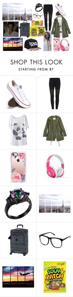 """""""My honeymoon with my husband to Paris"""" by moon-and-back-babe123 ❤ liked on Polyvore featuring Converse, Casetify, Beats by Dr. Dre, Art Addiction, Kipling and H&M"""