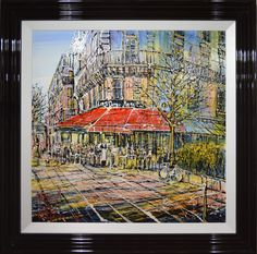 Les Deux Magots, Paris by Nigel Cooke. Available from Artworx Gallery. www.artworx.co.uk
