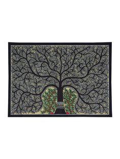 Buy Tree of Life Madhubani Art Work-22.2in x 30in Online at Jaypore.com