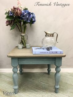 Coastal Style Side Table – Fenwick Vintages Paint Finishes, Coastal Style, Home Living Room, Chalk Paint, Decorative Items, Painted Furniture, Vintage Inspired, Shabby Chic, House Decorations