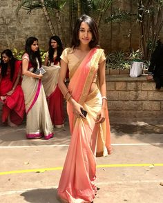 Modern Classic pink hot saree for parties For order whatsapp us on farewell farewell modern farewell teenagers farewell classy fat women teenagers modern indian for girls classy Bridal Sari, Saree Wedding, Indian Dresses, Indian Outfits, Farewell Sarees, Sari Dress, Diy Dress, Saree Blouse, Ethnic Sarees