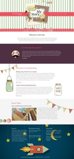 Website Template , Crafts