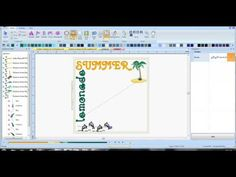 video tutorial on how to design subway art with pes software Embroidery Software, Machine Embroidery, Embroidery Designs, Summer Subway Art, Pe Design, Dream Machine, Quilting Ideas, Silhouette Cameo, Addiction