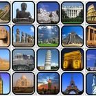 20 2x2 landmarks picture squares. Print one copy,cut out for flashcards. Print two copies for identical matching task or memory game. For a challen...