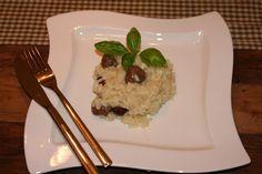 Herbstküche:: Maronirisotto Risotto, Plastic Cutting Board, Grains, Food, Asparagus, Kochen, Food Recipes, Meal, Essen