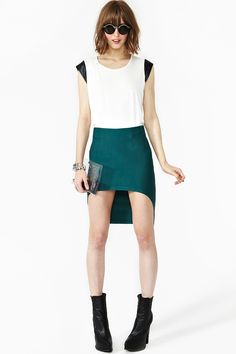 Seriously need this.  Hellbent skirt by Nasty Gal. (I especially love the side view, but I couldn't pin that exact image.)