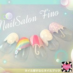 These are one of the best design nail art for coffin nails Beautiful Nail Designs, Cute Nail Designs, Cute Nails, My Nails, Unicorn Nail Art, Kawaii Nail Art, Nail Pops, Transparent Nails, Japanese Nail Art