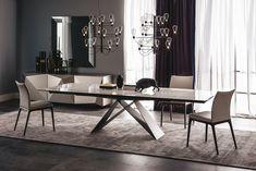Extending rectangular ceramic table PREMIER KERAMIK DRIVE By Cattelan Italia design Andrea Lucatello, Giorgio Cattelan