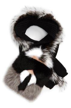 Fendi  Karlito  Genuine Fox, Genuine Mink   Genuine Nutria Fur Scarf    Nordstrom f11f9192867