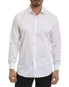 R by Robert Graham Optical Eyelash-Print Shirt