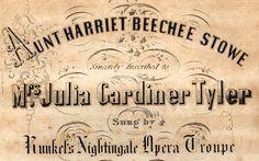 dedication to Julia Gardiner Tyler