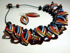 Collar de Arcilla Polimérica y Pendientes por SilviaOrtizDeLaTorre