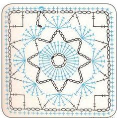 Подушка из квадратных мотивов