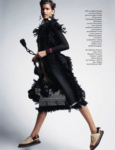 Astrid Holler models luxe wears furs for Amica September 2015 by Thomas Schenk [editorial]