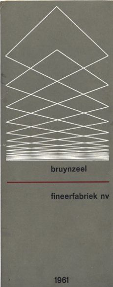 Wim Crouwel - Bruynzeel Fineerfabriek (Veneer Factory), 1961