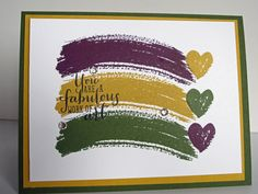 Stampin' Up! Work-of-Art stamp set and 2014-2016 In-Colors. http://theplaidpoodle.com/fabulous-work-of-art-2/