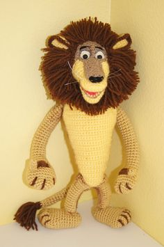 Leone Alex(crochet, hero of *Madagascar*