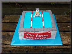 Zwemdiploma taart / Swimming certificate cake