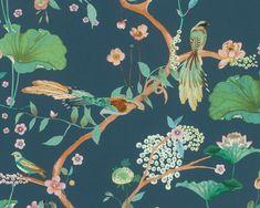 RW6820 Contemporary Bird Style Japonais, Bird Wallpaper, Past, Birds, Amazing, Contemporary, Studio, Bedroom Inspo, Painting