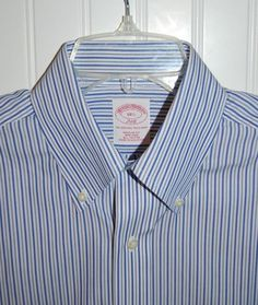 Brooks Brothers 346 Shirt Mens size 14 1/2 Short Sleeve Non Iron Striped…