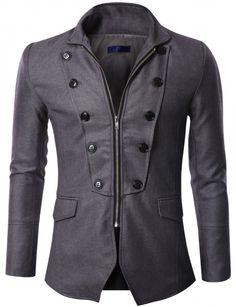 Doublju - Blazer Luxo Zipper Jacket (BGAK07) Compre roupas de qualidade, com design inovador e preço justo!