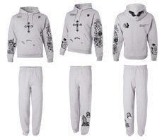Justin Bieber full body tattoo hoodie sweatpants outfit ash - ALLNTRENDSHOP - 4