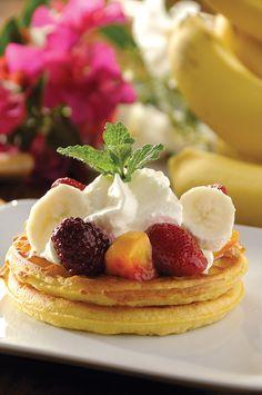 Waffles de avena con frutas