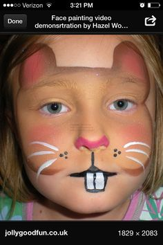 Ground hog face paint. Halloween makeup.