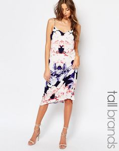 Image 1 of Y.A.S Tall Orchid Print Midi Dress