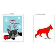 German Shepherd Christmas Cheer Card Set, Dog Park Publishing