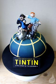 3D Tintin Cake by Iced Over Cakes, via Flickr