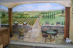 "Tuscan Garden Patios are extremely popular these days and there are so many ideas to help create one. Do you adore the idea and look of a Tuscan Garden Patio - climbing vines, stone pavers and terra cotta potted plants? I use the phrase ""garden. Decorative Light Switch Covers, Switch Plate Covers, Light Switch Plates, Tuscan Garden, Tuscan House, Rustic Kitchen Design, Patio Wall, Rustic Colors, Tuscan Decorating"