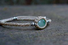 Aventurine macrame bracelet macrame jewelry by EarthCraftHandmade